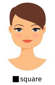 square shape face