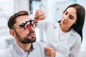 Adults eye test