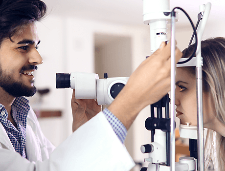 external eye examination